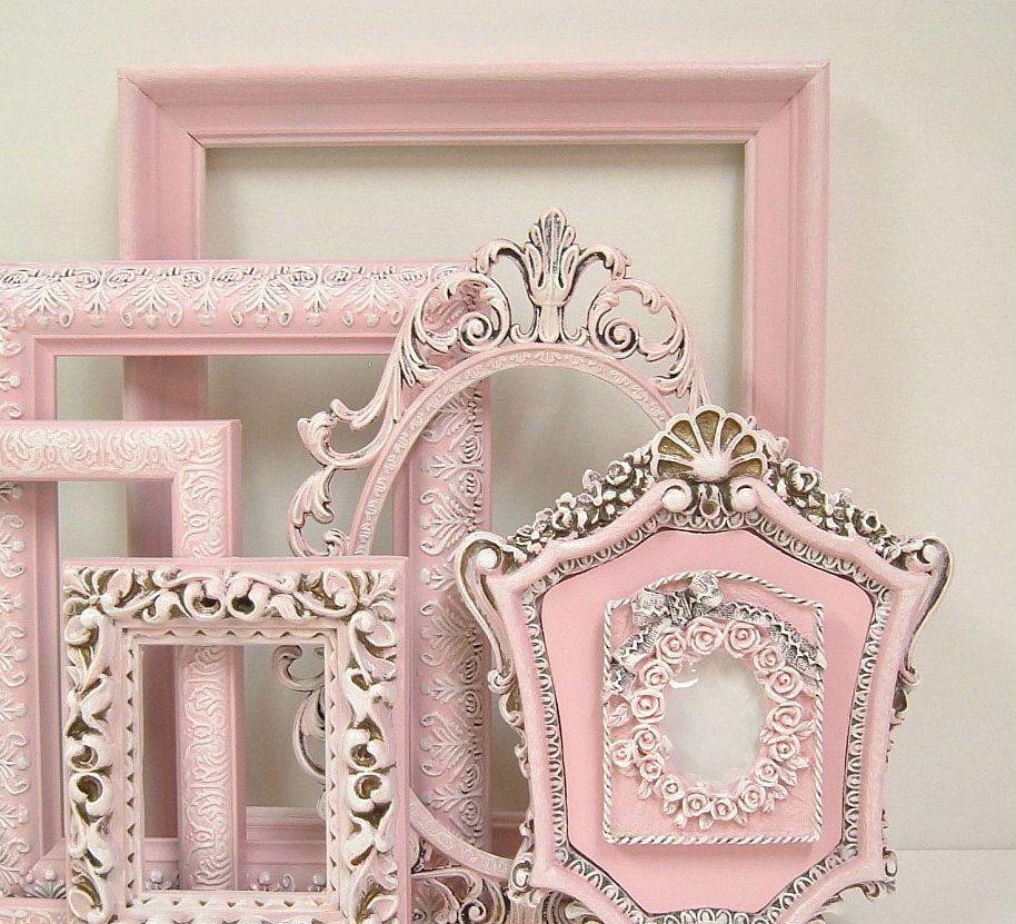 Shabby Chic Frames Fresh Pastel Pink Picture Frame Set Ornate Frames