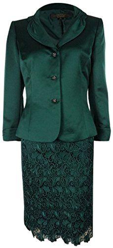a152b9291232 Tahari Women's Ralph Tuscan Treasure Skirt Suit (6, Vineyard Green) TAHARI  ASL http