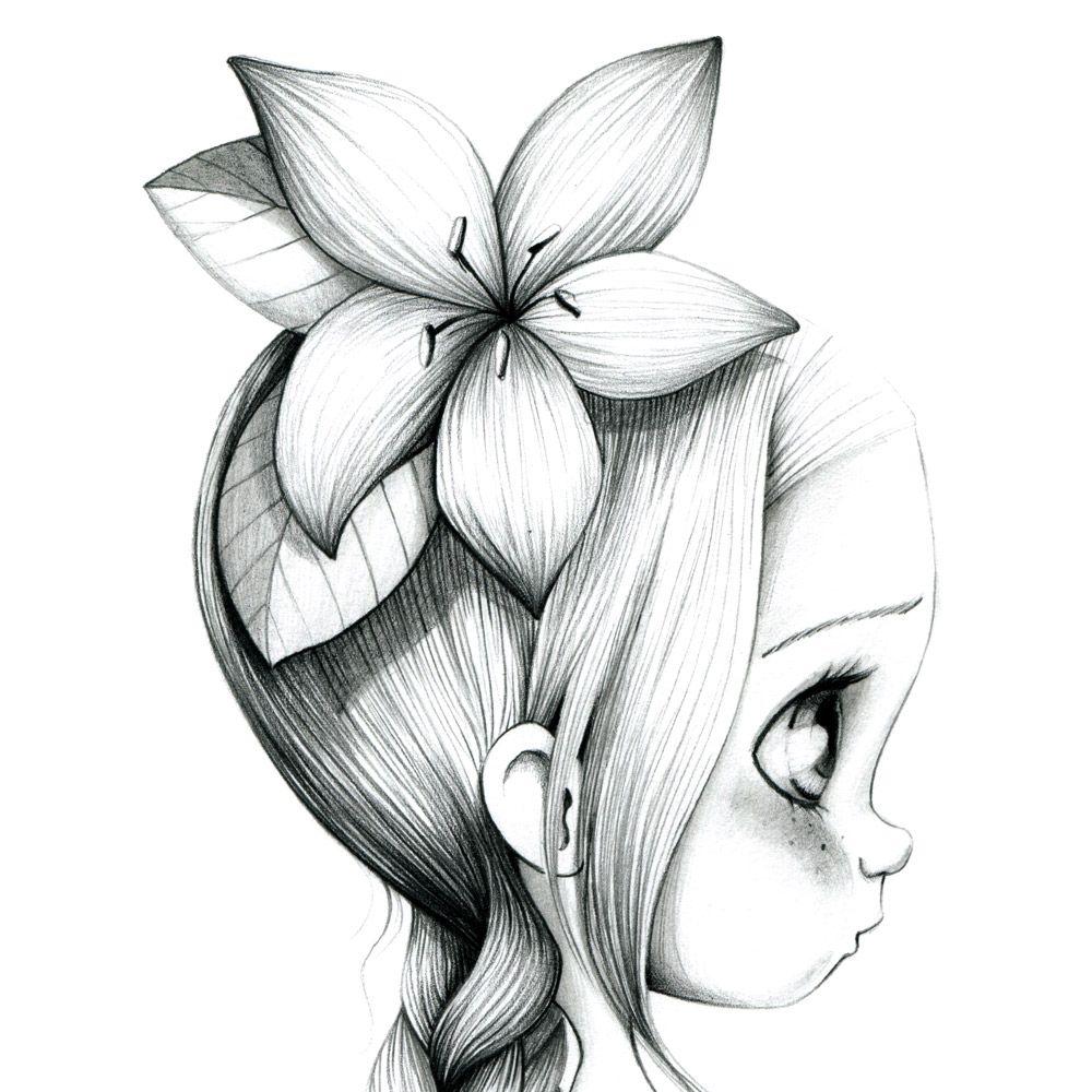 Toile d co pour chambre de petite fille id e dessin pinterest dessin dessin petite fille - Coloriage fillette ...