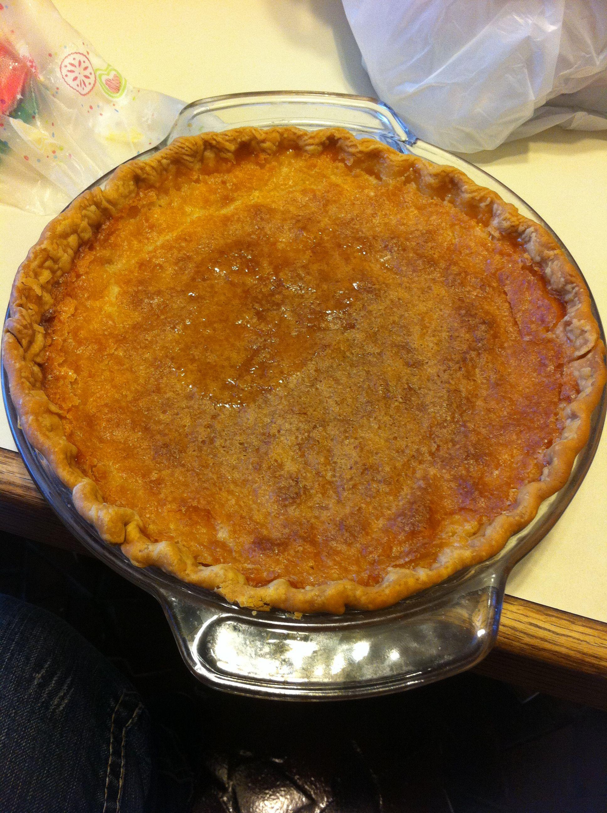 Mawmaw S Buttermilk Pie 2 C Sugar 1 2 C Butter 2 Eggs 2 T Flour 1 T Vanilla 1 C Buttermilk Mix Everything Sweet Treats Recipes Buttermilk Pie Treat Recipe