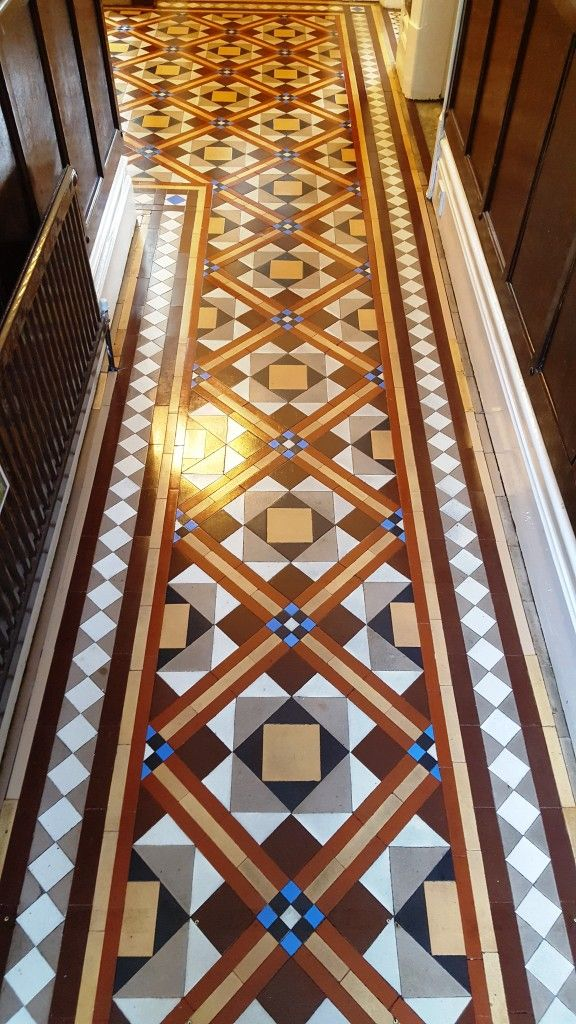 Victorian Tiled Hallway After Cleaning Hebden Minton Tiles