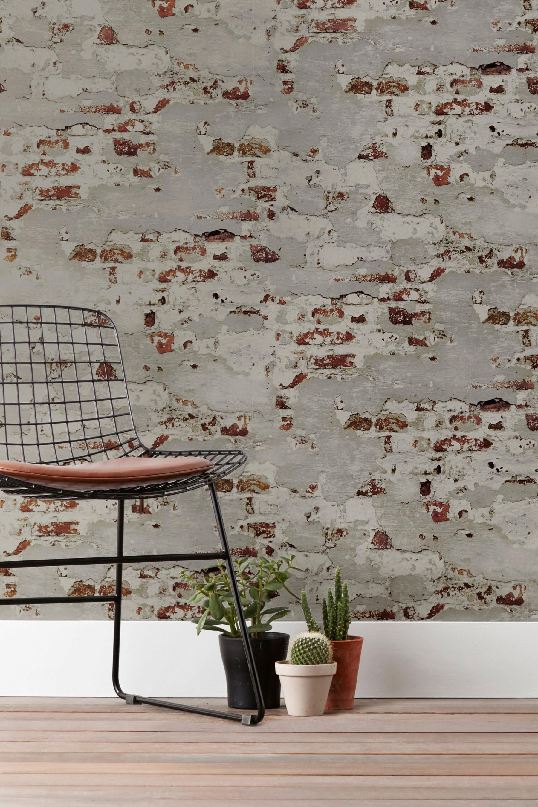 Buy Paste The Wall Distressed Bricks Wallpaper from the Next UK online shop