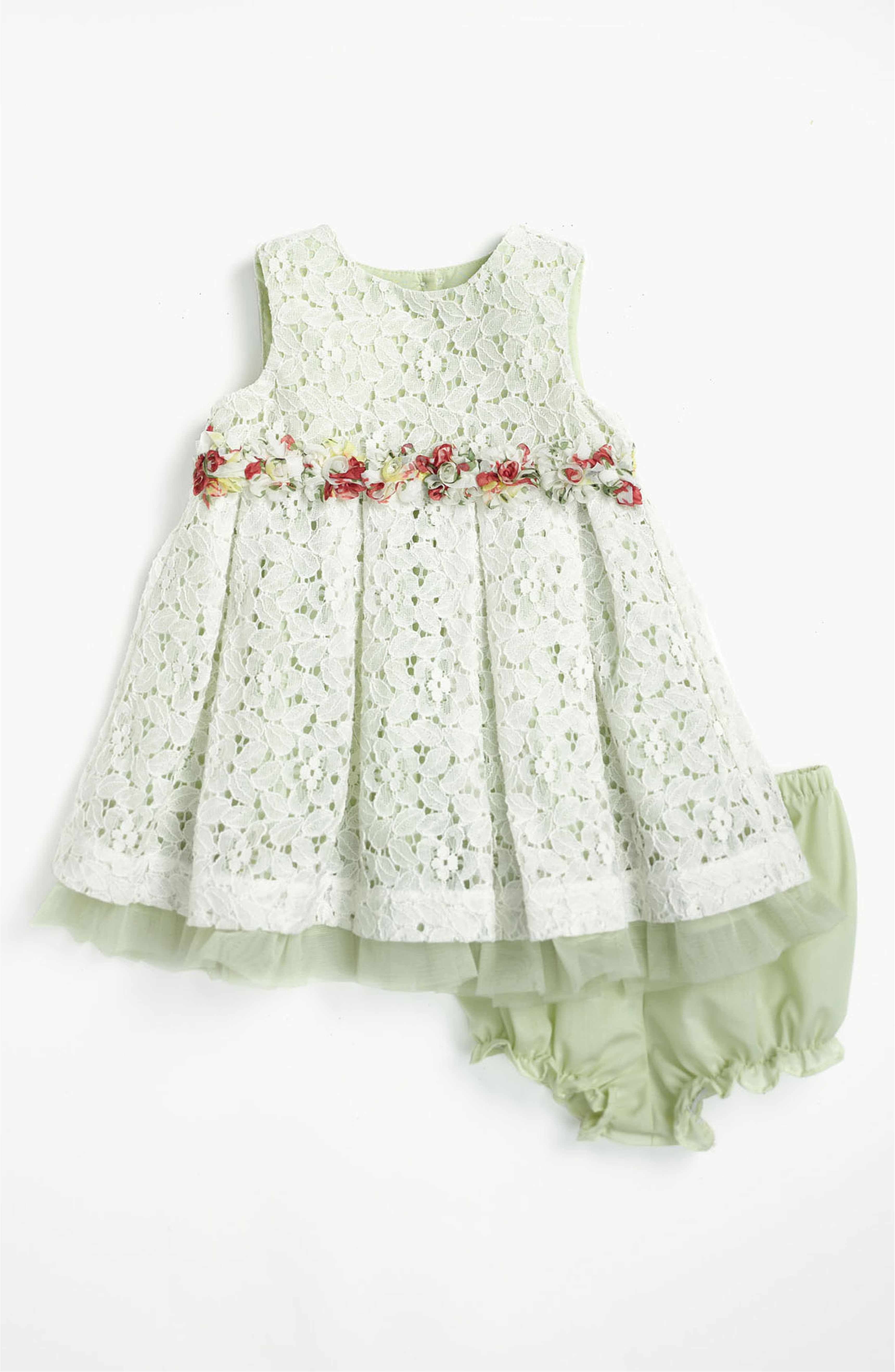 Main Image Pippa & Julie Lace Dress & Bloomers Baby Girls