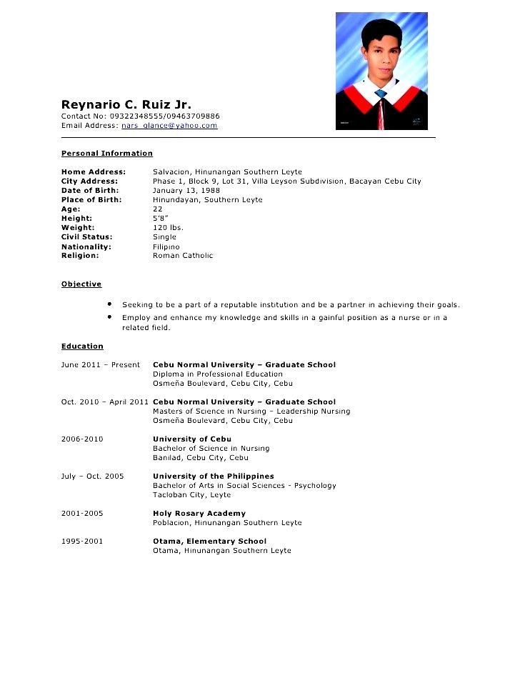 Comprehensive Resume Sample Cv Resume Sample Resume Template