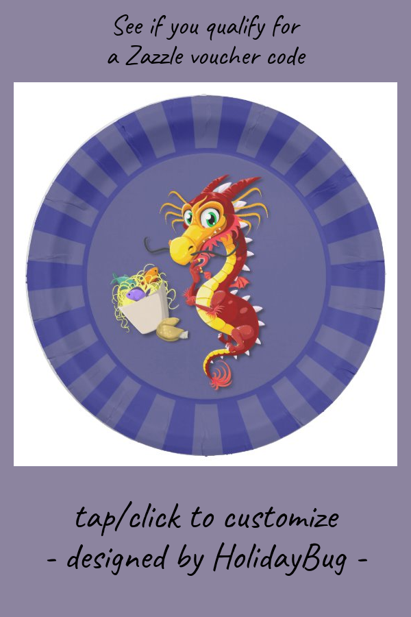 Chinese Red Dragon Takeout Paper Plate Zazzle Com In 2020 Red Dragon Paper Plates Paper
