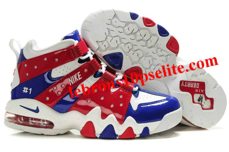 Charles Barkley Shoes - Nike Air Max2 CB 94 White/Red/Blue