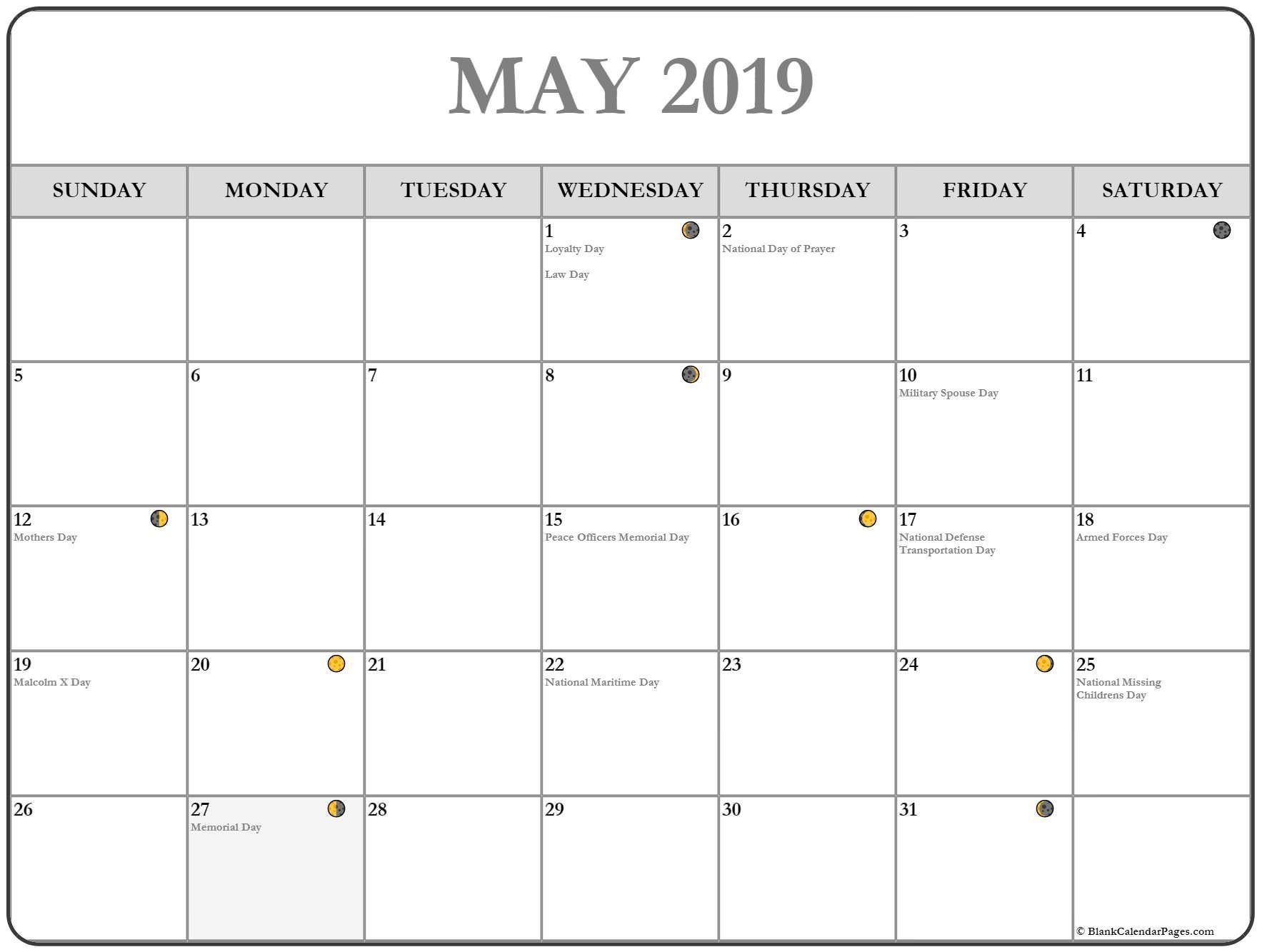 May 2019 Calendar Free Printable Monthly Calendars Calendar