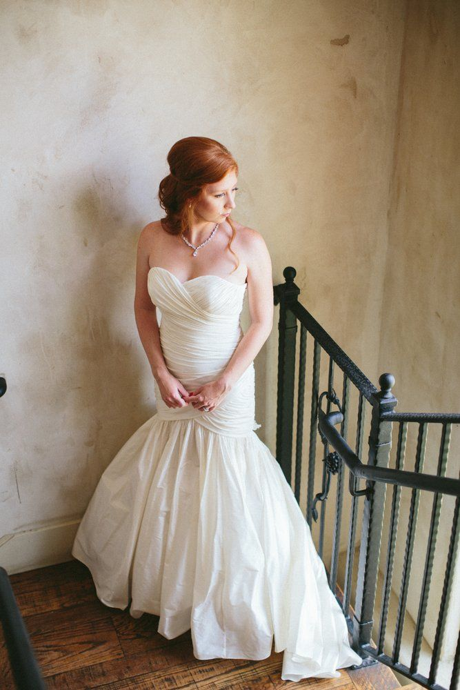 Beautiful shot of Darcey wearing her Tatiana wedding gown...