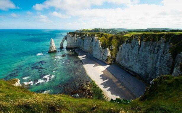 Côte d'Albatre sulla Manica, Francia  #coast #costa #france #francia