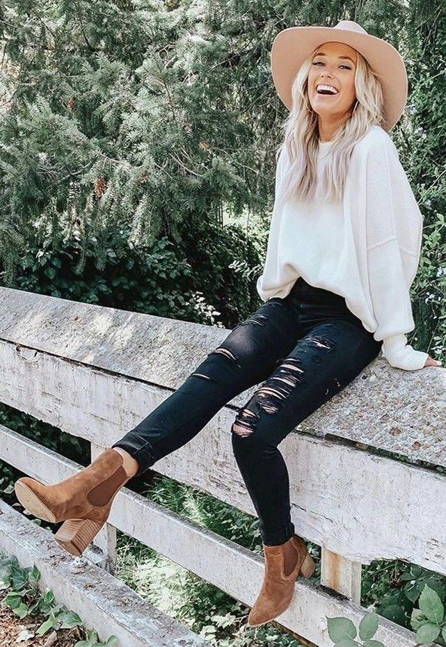 35 sweet and simple women fall outfits this year 9