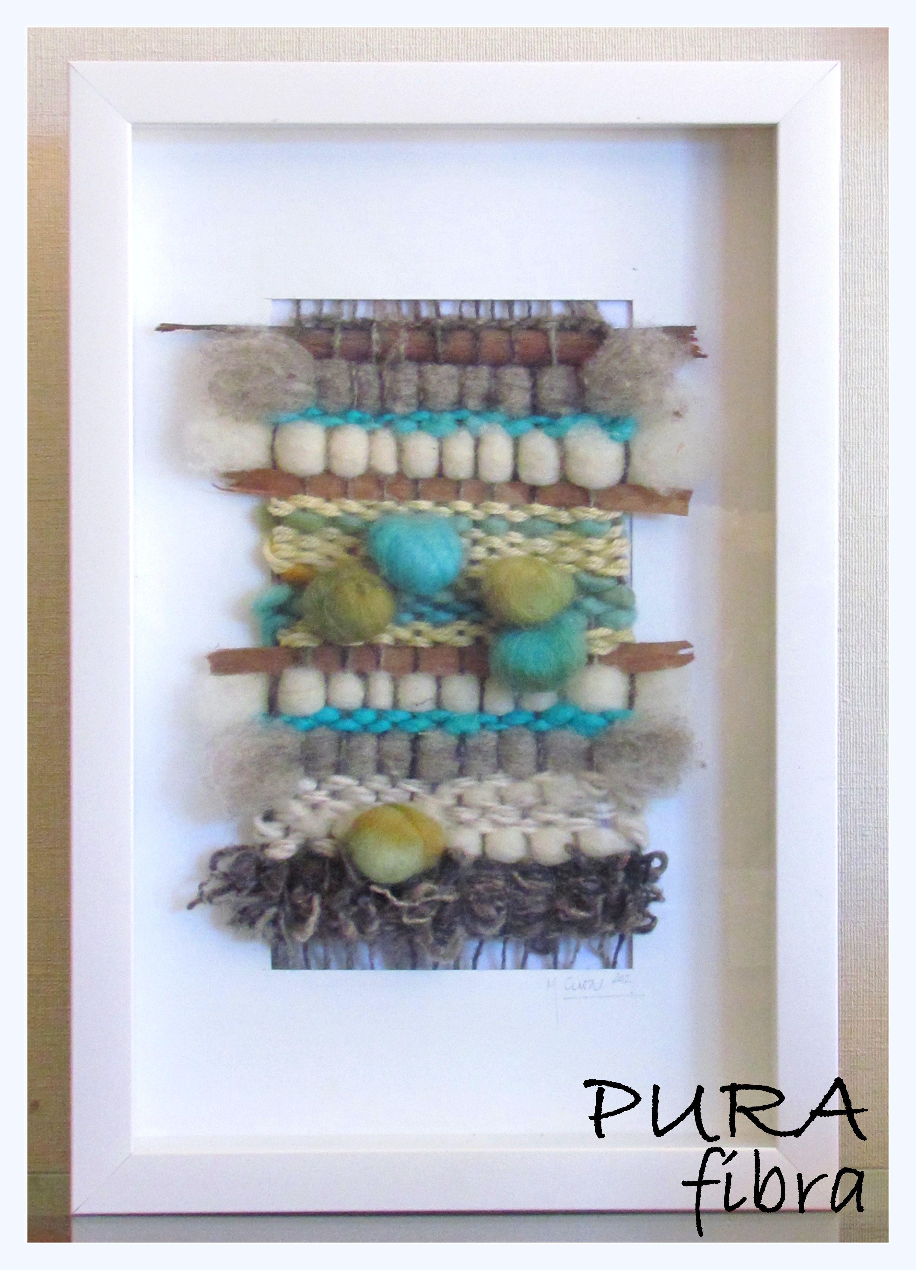 Telar enmarcado 25x40 cms. | Weavings | Pinterest | Telar, Tapices y ...