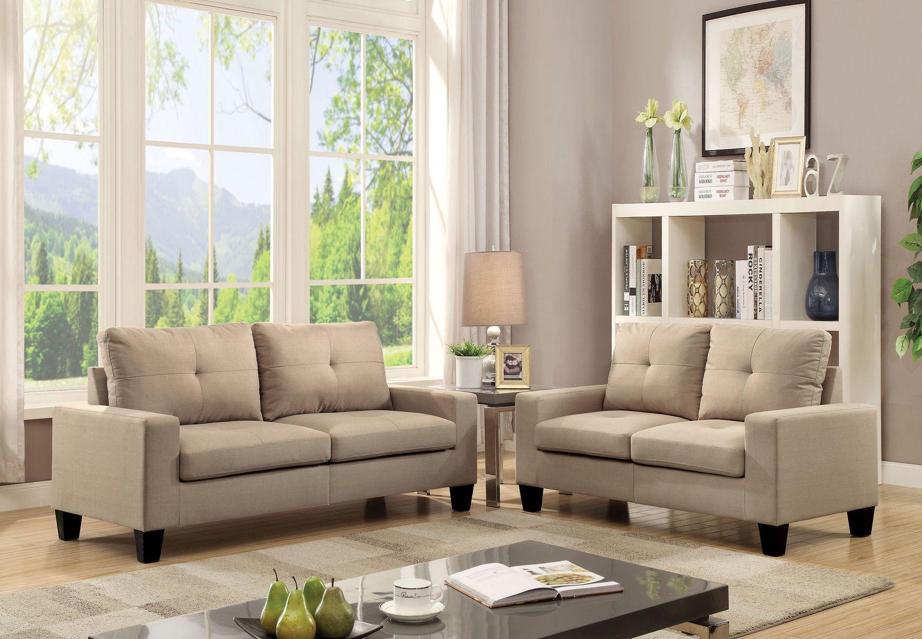 Platinum Ii Beige Sofa Loveseat In 2020 Living Room Sets Sofa
