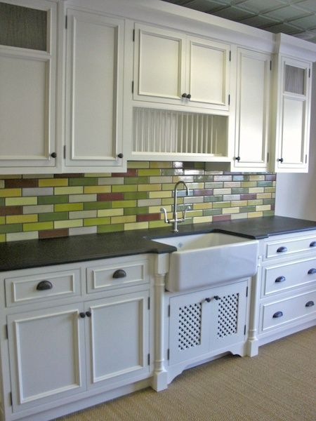 Debris Series Recycled Tile Kitchen Backsplash by Terrene LLC