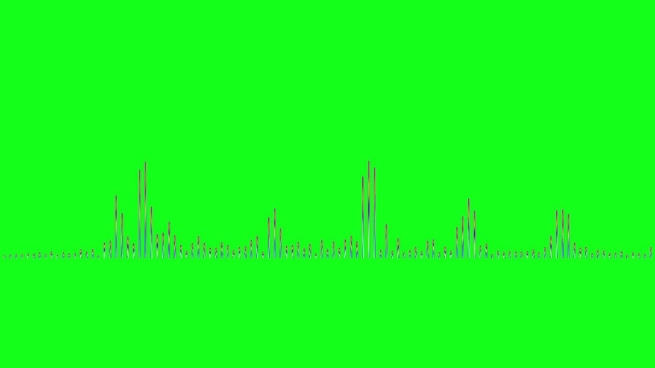 Audio Spectrum Visualizer green screen and blue screen
