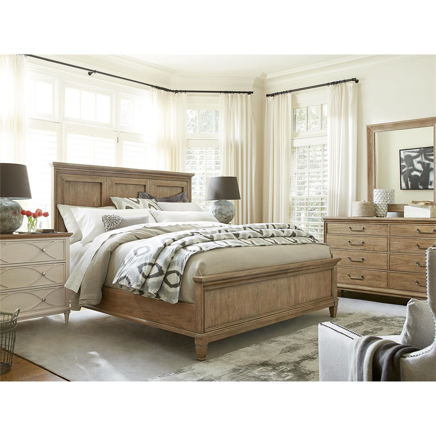 Universal furniture b moderne muse king bed in bisque