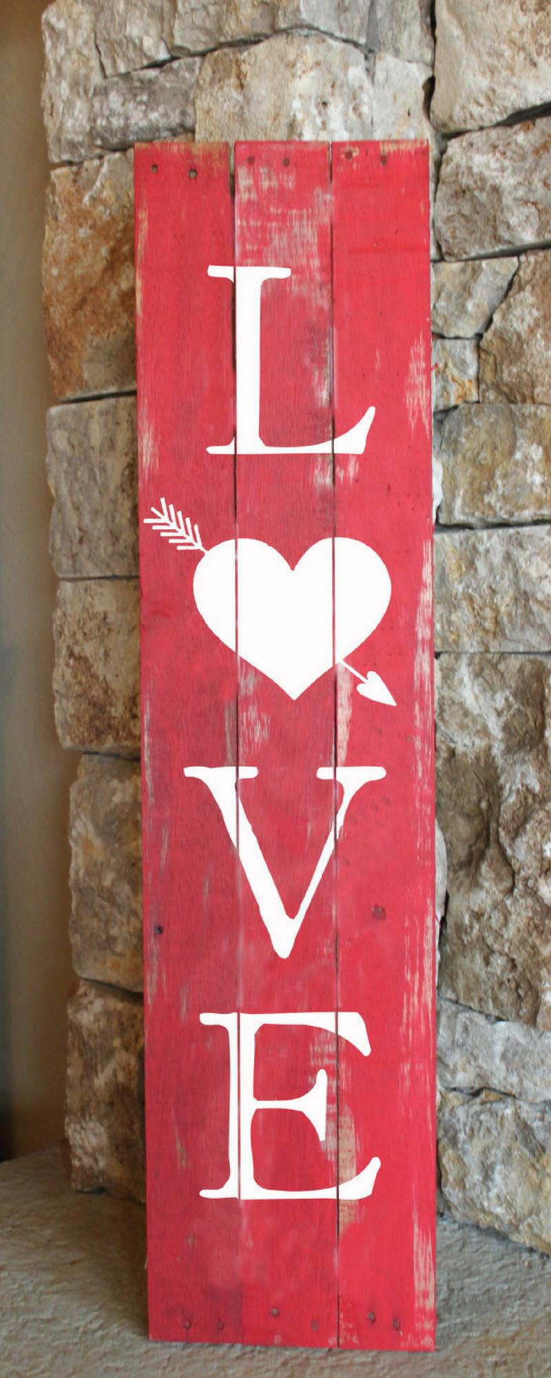 Front door for V-day! #decor #frontdoor #love #valentine #red ...
