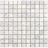 "Found it at Wayfair - 1"" x 1"" Polished / Tumbled Marble Mosaic in White Carrara"