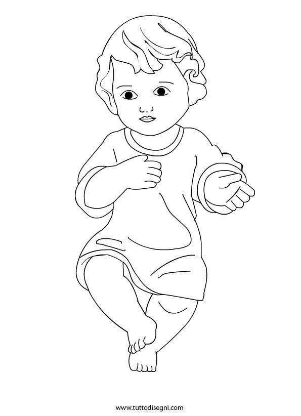 Bambino Gesu Christmas Drawings Bambini Da Colorare Natale Bambini