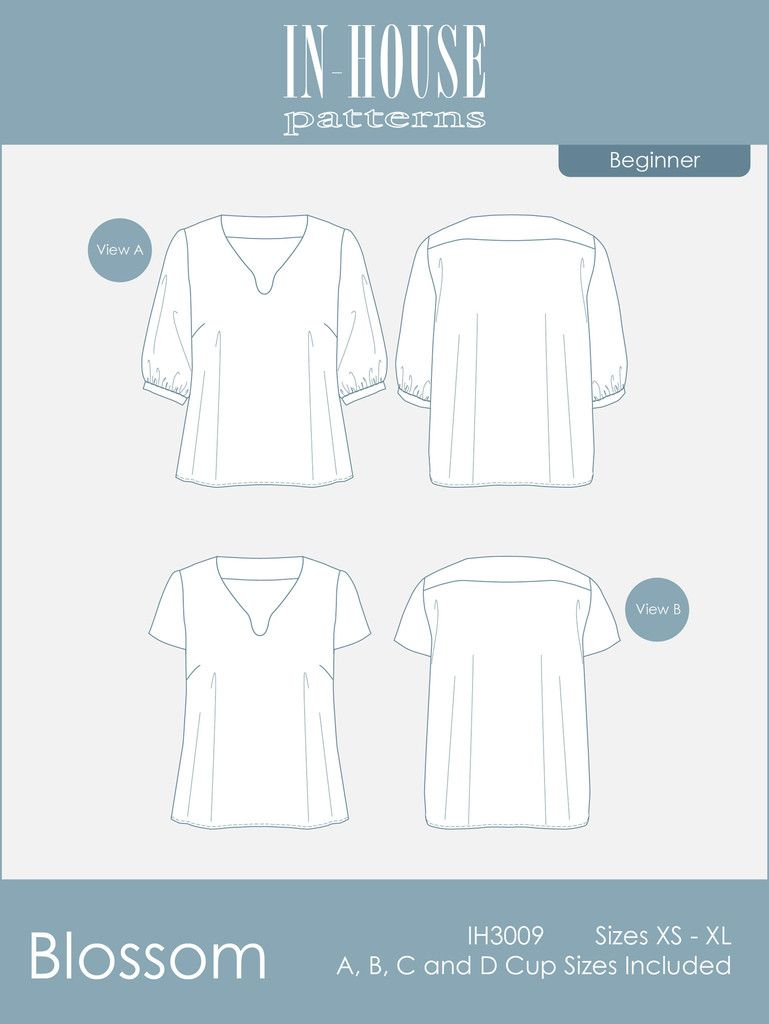Blossom In-House Patterns | Sewing tips & tutorials | Pinterest