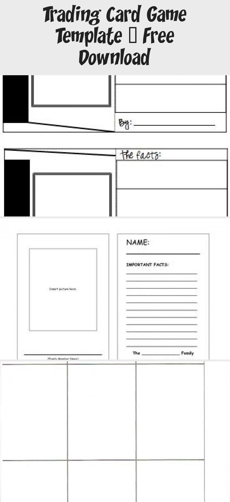 Trading Card Game Template Free Download Trading Cards Game