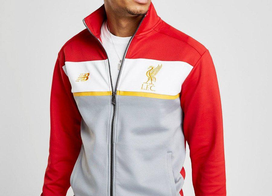 f3622ea29398  football  soccer  futbol  lfc  liverpoolfc New Balance 247 Liverpool FC  Track Top - Red   White   Grey