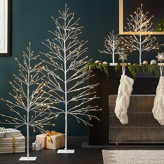 Led Birch Trees Crate And Barrel