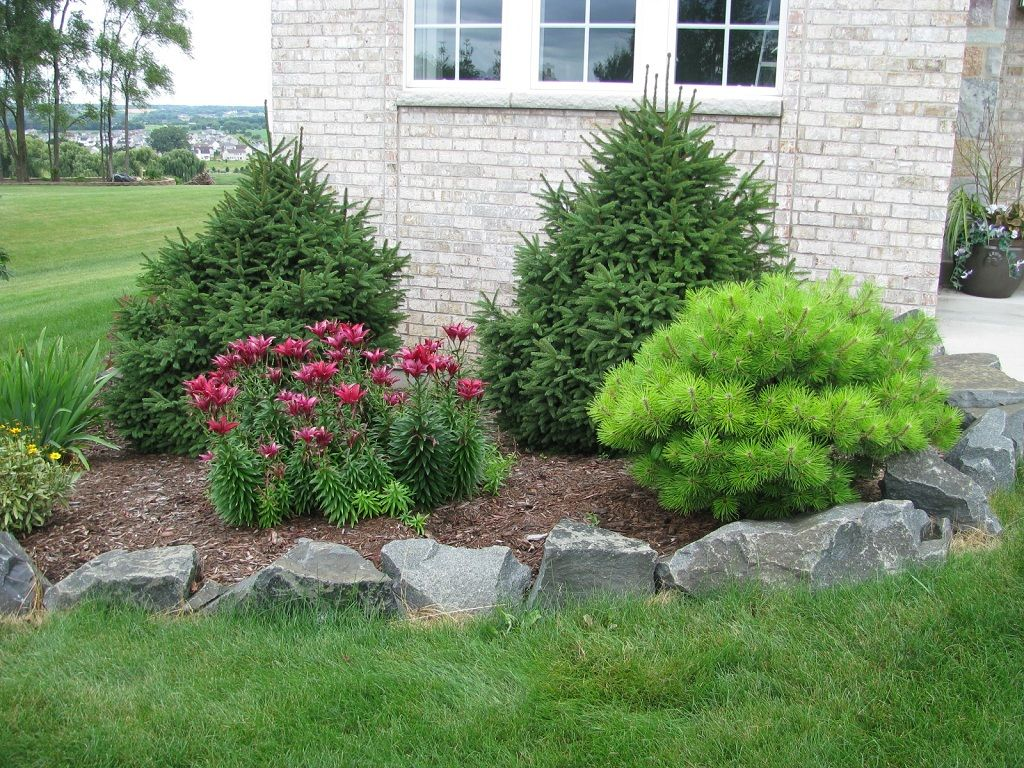 Rock Garden With Decorative Flower Bed Small Front Yard 400 x 300