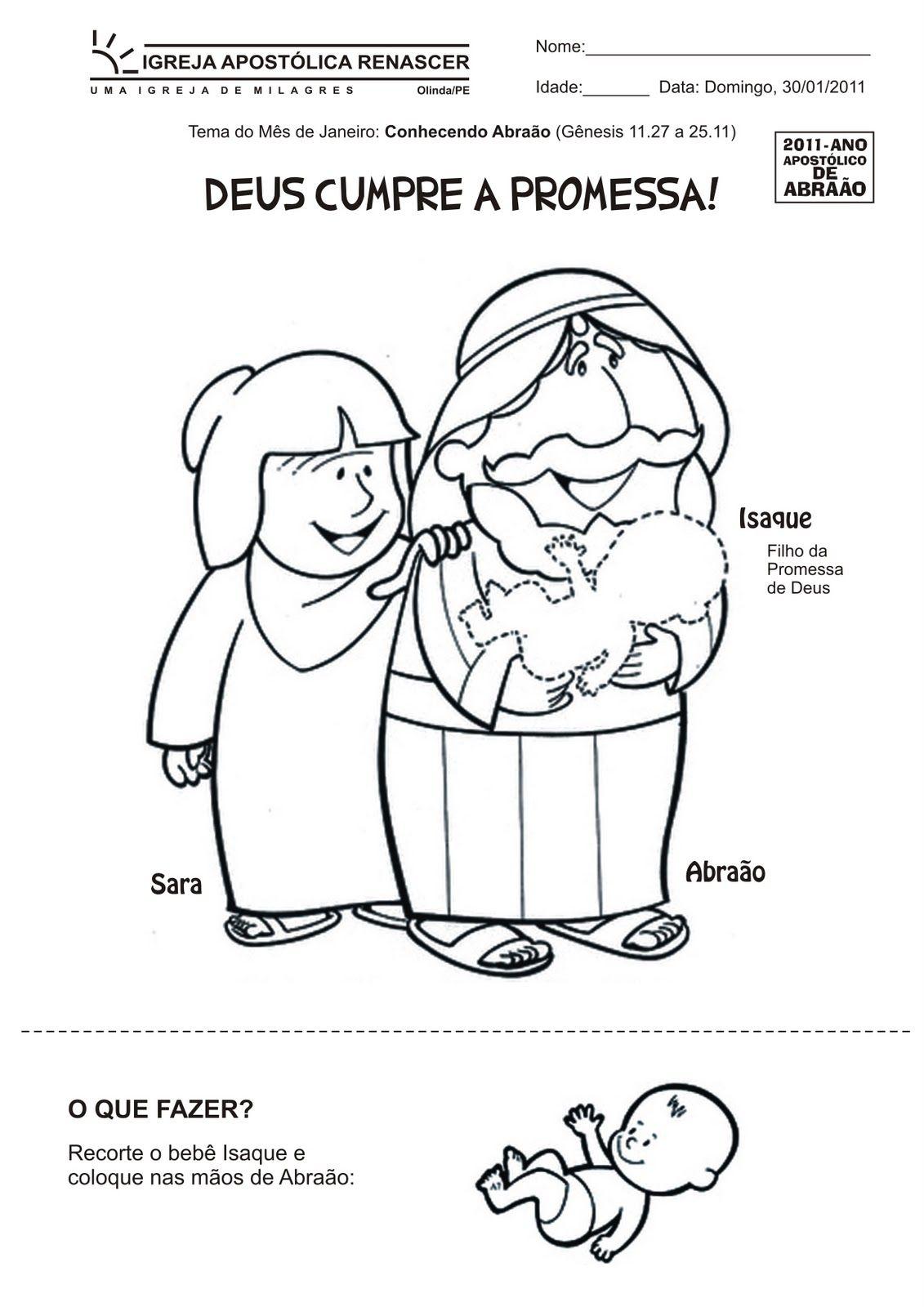 Abraao E A Promessa De Deus Desenhos E Atividades Agua Viva
