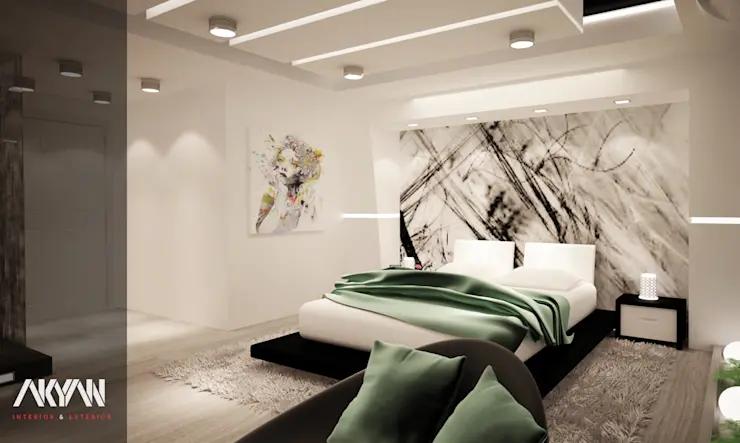 البيت الأبيض وشقق فندقية فاخرة من أكيان Homify Room Interior Design Master Bedding