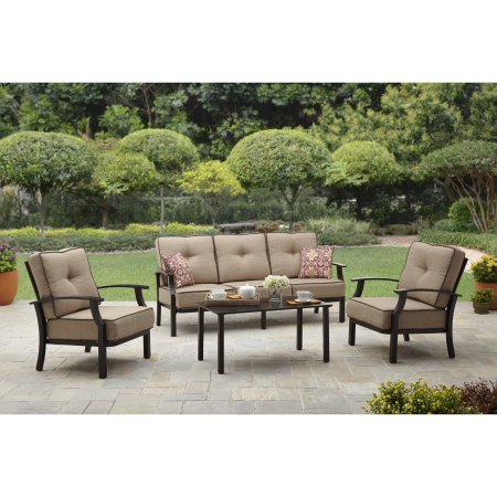 Better Homes And Garden Carter Hills Outdoor Conversation Set Seats 5 Patio Furnishings Better Homes And Garden Garden Patio Furniture