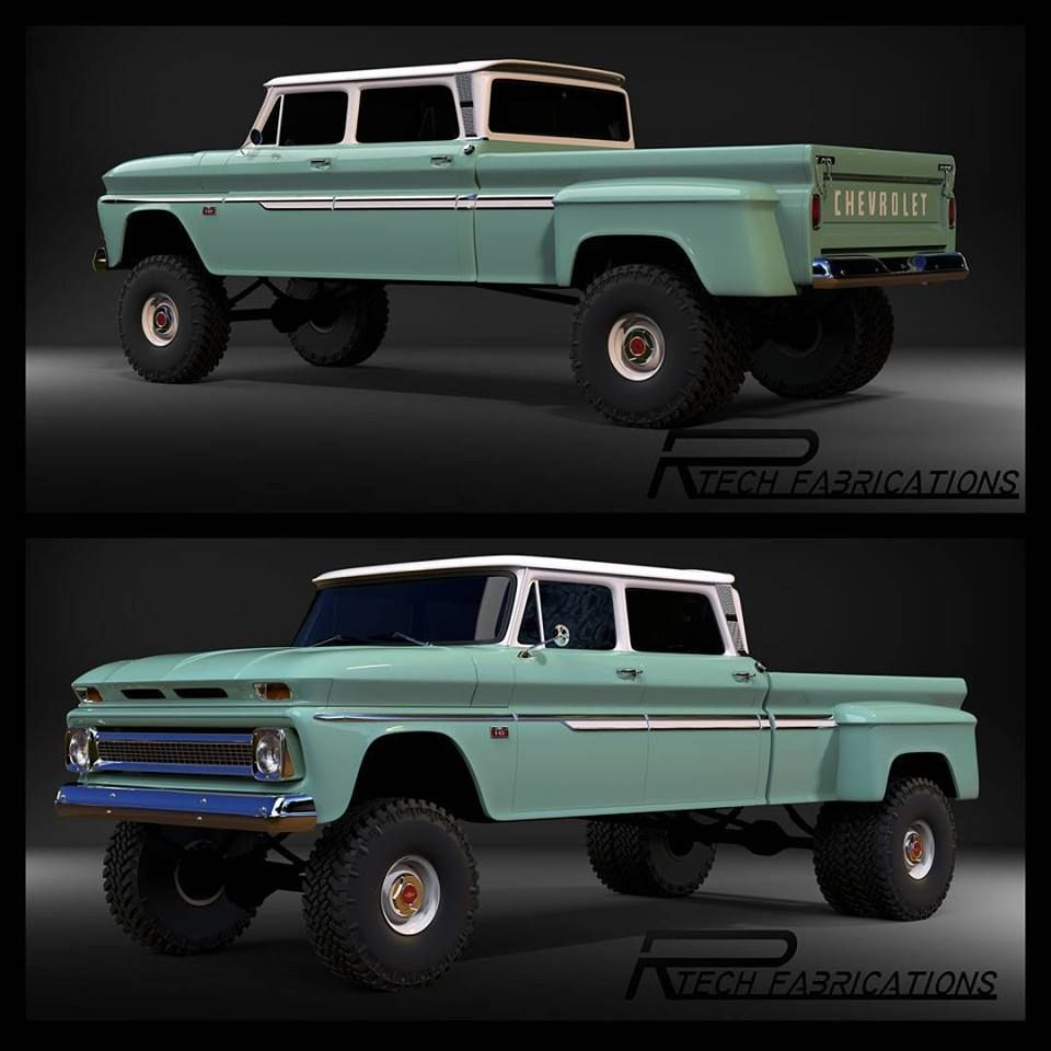 Chevy 64 65 66 Crew Cab Dually Dubbed The Ponderosa Gmc 1960 To 1968 Ford