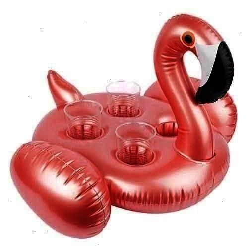the Rose Gold Flamingo Inflatable Drink Holder Allow   Never leave the pool with the Rose Gold Flamingo Inflatable Drink Holder Allow your personal swan Never leave the p...