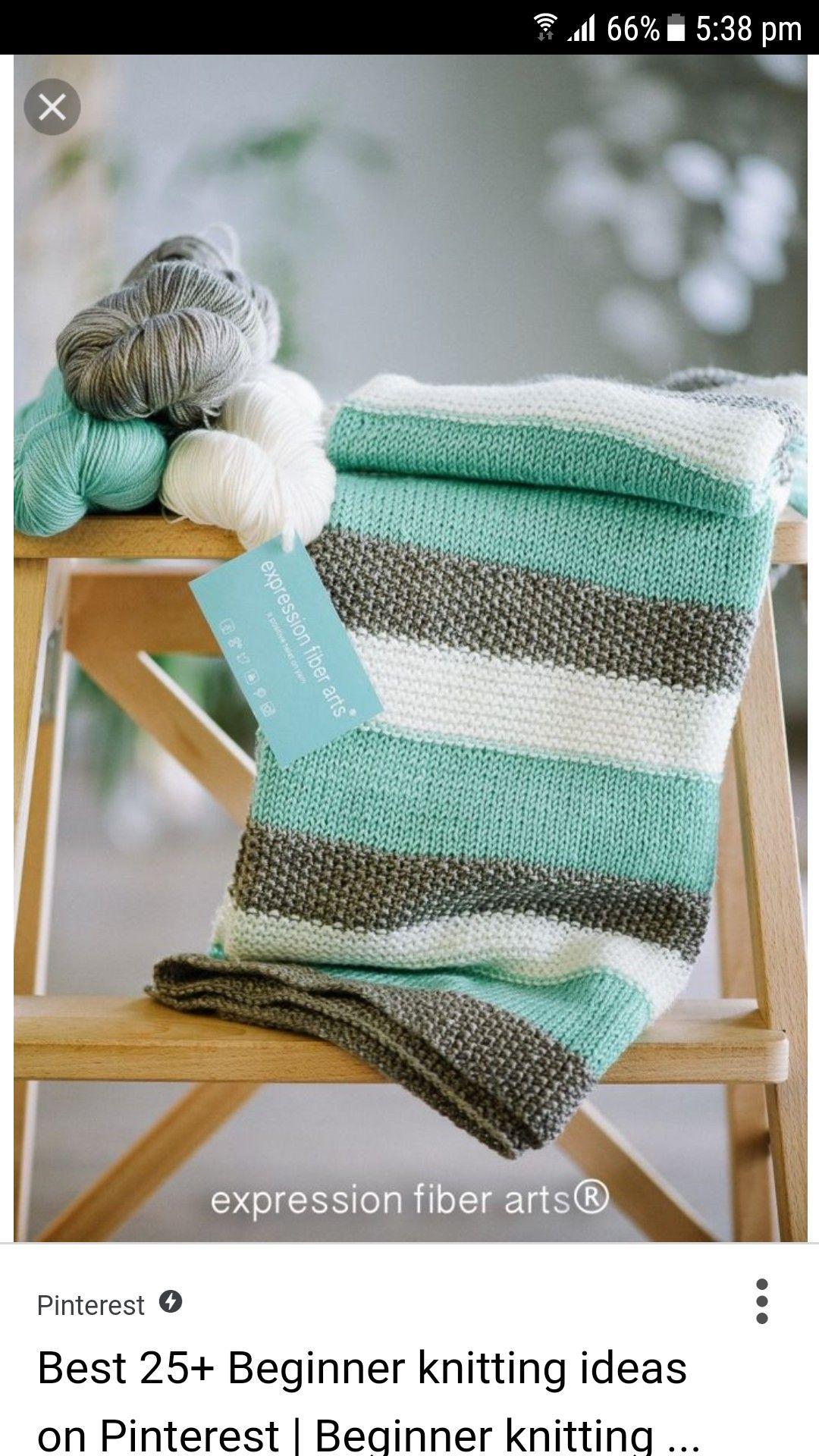 Manta de punto | Knitting | Pinterest | Crochet, Blanket and Knit ...