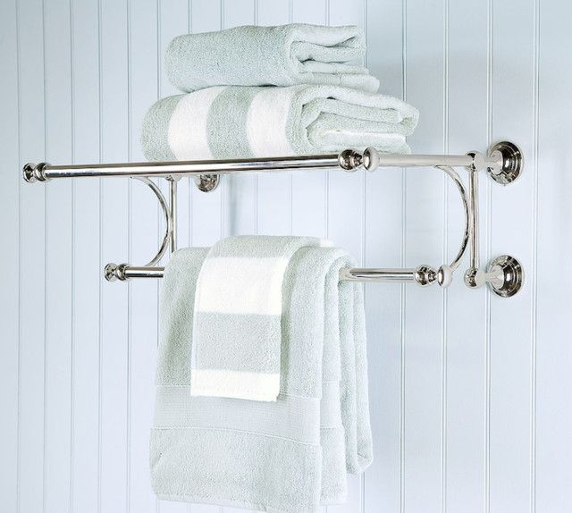 An Artistic Double Towel Bar In Polished Chrome For Hotel Bathroom - Designer towels sale for small bathroom ideas