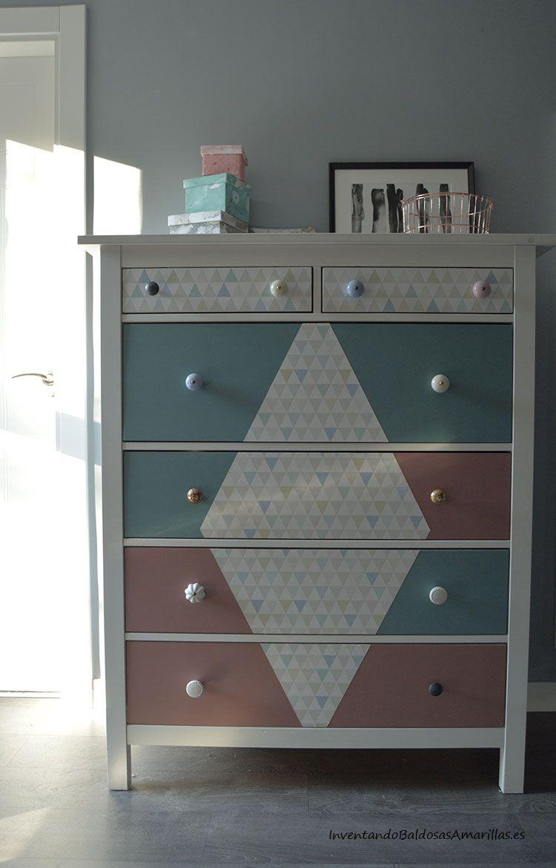 Transforma Tus Muebles Con Papel Pintado Papel Pintado C Moda Y  # Muebles Forrados Con Papel