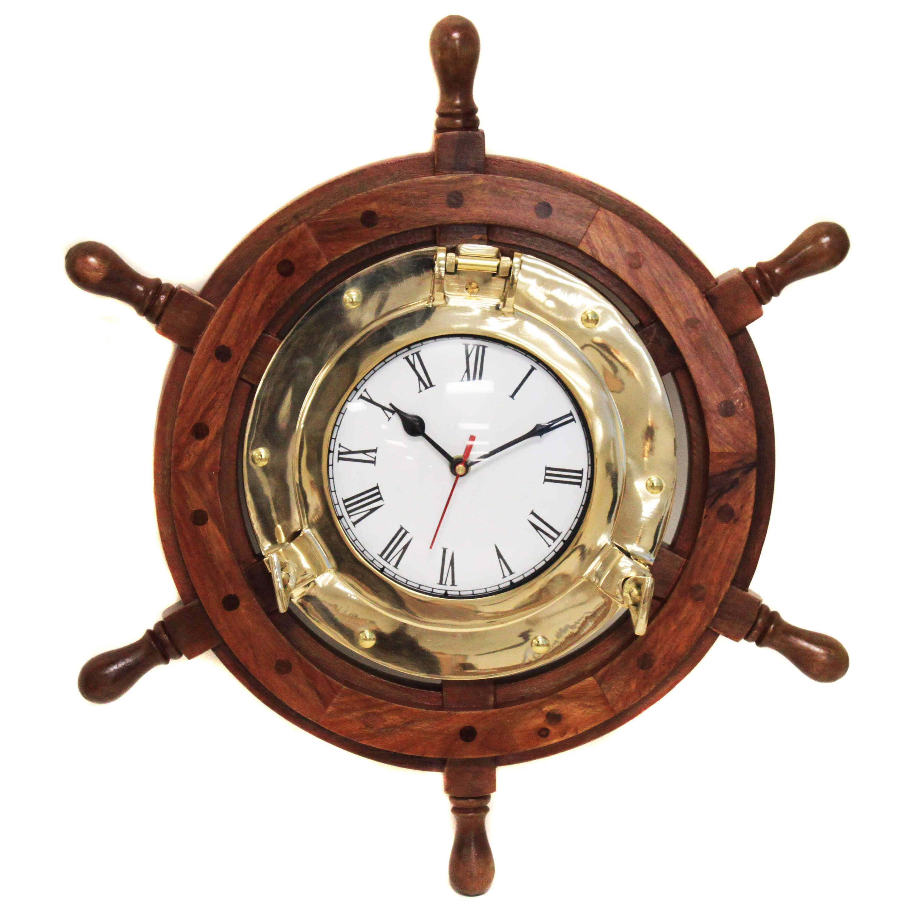 Exceptional Perfect For A Coastal Styled Home, This Rustic Inspired Wall Clock Beams  With Nautical Pictures