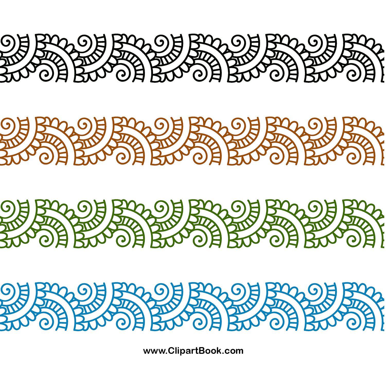 Digital embroidery digitizing borders designs indian motif henna ...