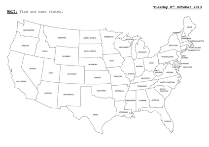 USA States Compass Task.docx | States and capitals, U.s. ...