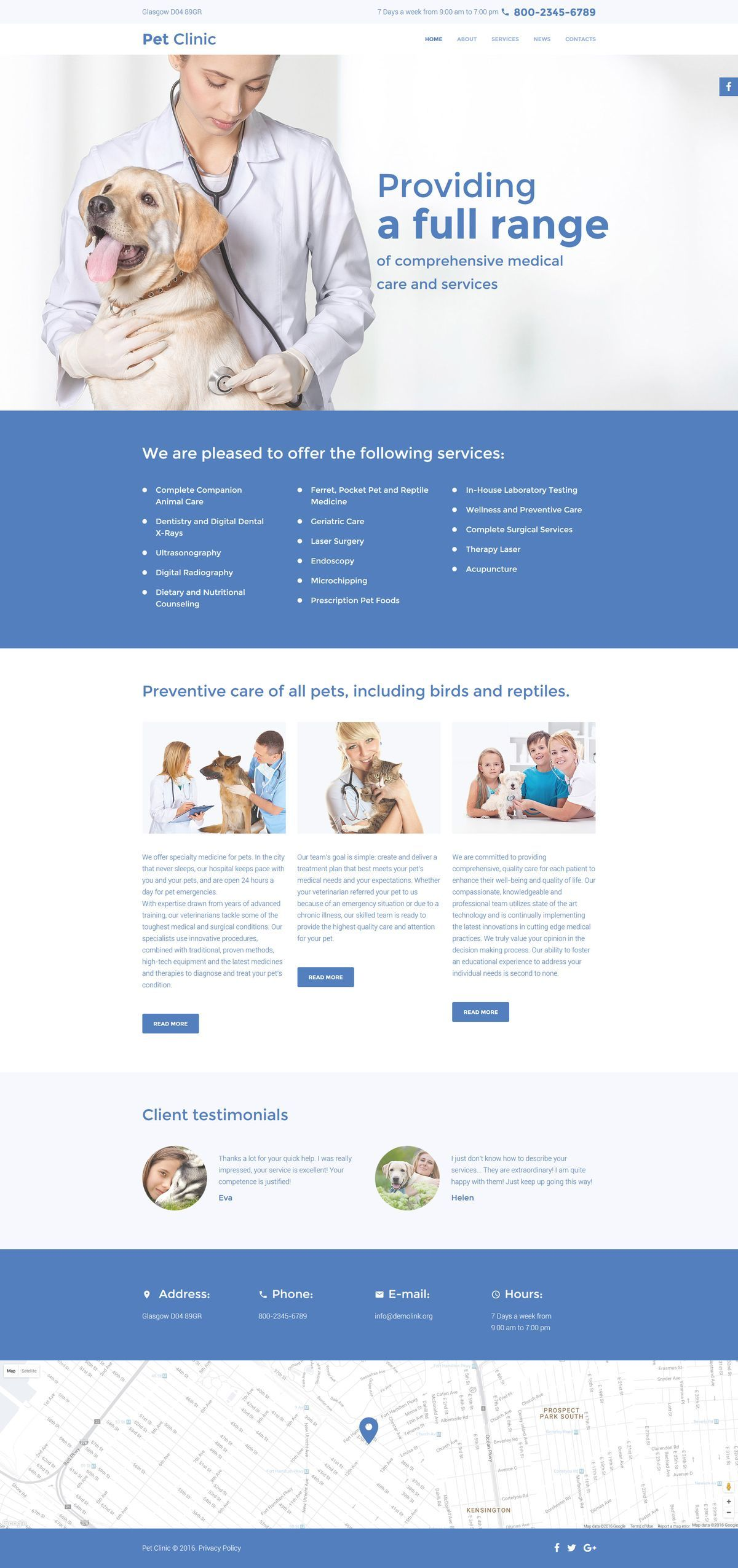 Vet Responsive Website Template - http://www.templatemonster.com ...
