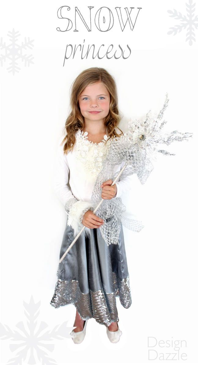 Girls White Snow Ice queen Frozen Angel Star Show Nativity Costume Fancy dress