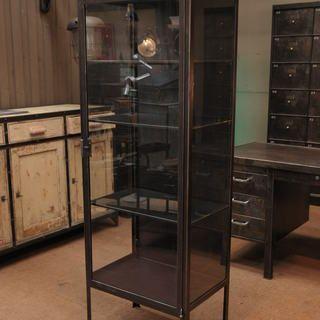 Le Grenier Roubaix France Stock Vitrine Metal Industrielle 1950 Industrial Bookcases Industrial Furniture Interior Design Styles