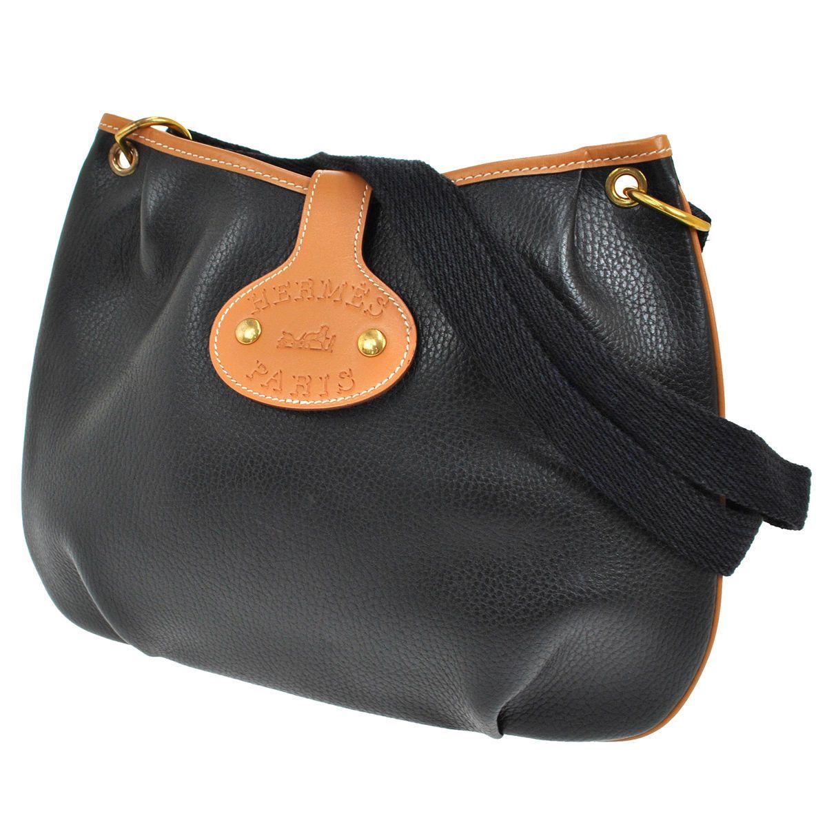 Authentic Hermes Rodeo Cross Body Shoulder Bag Black Ardennes France Vtg  RK09671  4080676ed4