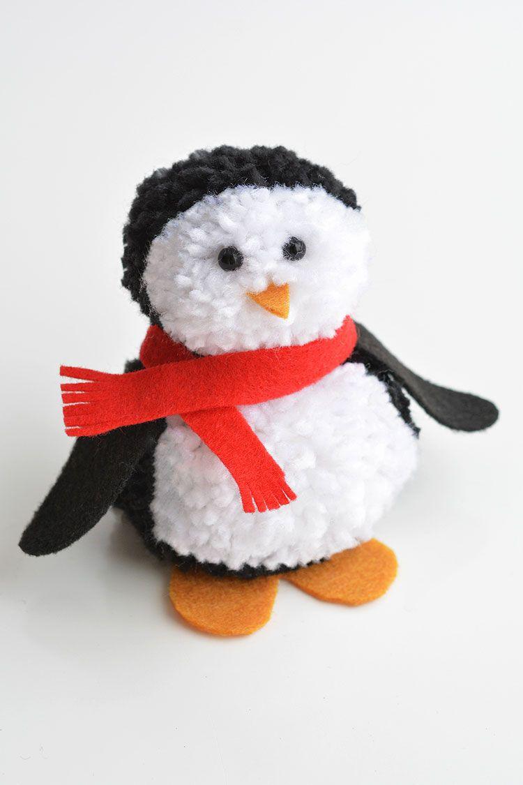 How to Make Pom Pom Penguins | A Cute and Easy Winter Craft Idea #penguincraft