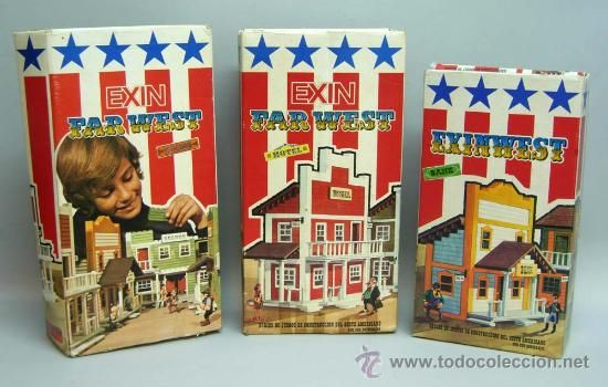 lote de 3 exin west saloon hotel y bank años 70 - Comprar Exin en ...