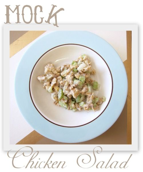 Mock Chicken Salad Recipe Would Love To Make This Myself Instead