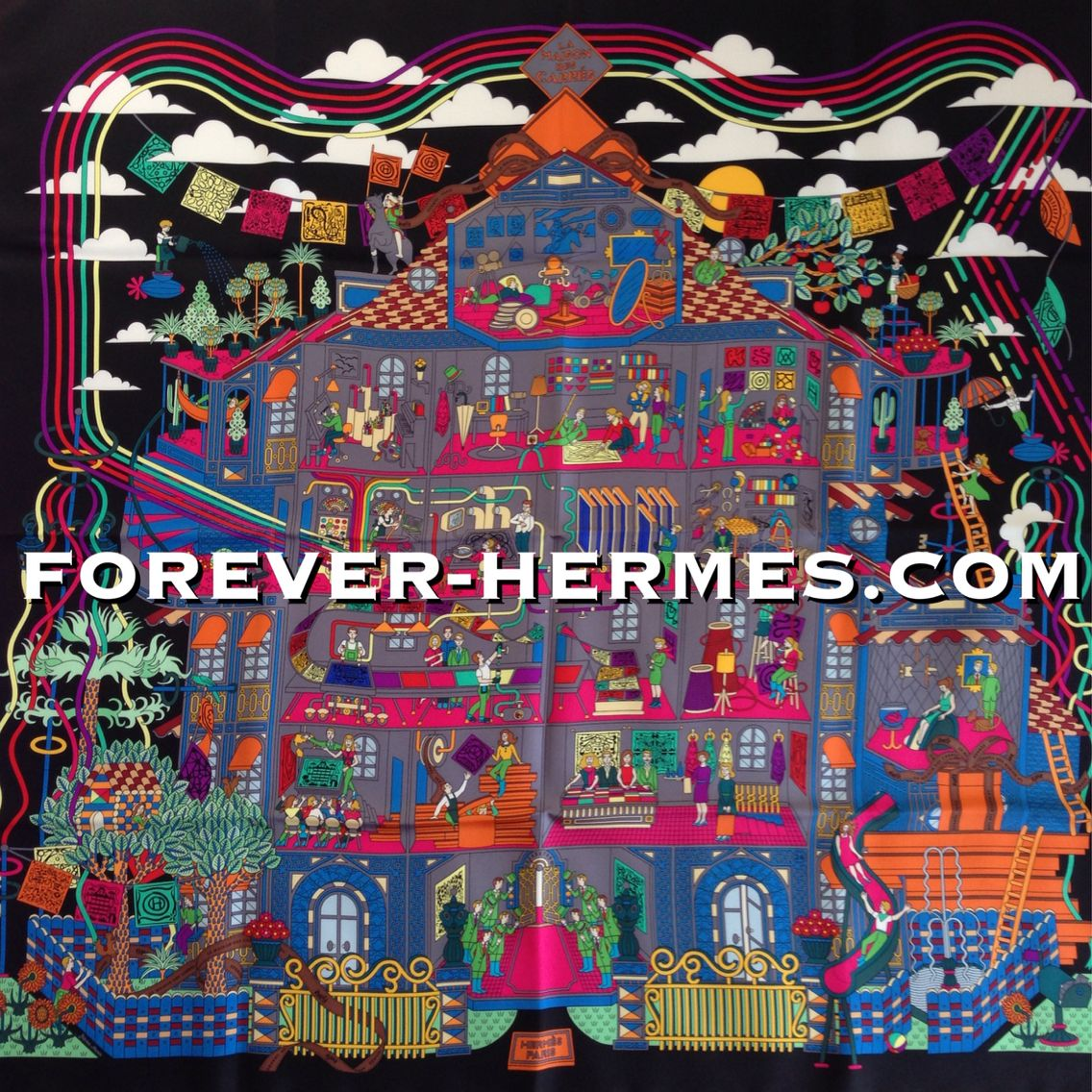 Ever wondered how to make a Hermes Paris Carre scarf? See it in our store http://forever-hermes.com #ForeverHermes this design by Pierre Marie titled La Maison Des Carres that shows every detail of the #HermesScarf creation!! Choosing the #design , the colors, the materials, like in a #dollhouse we can peek inside #couture house Hermes's laboratory! #dapper #gentleman #MensSuit #MensWear #mensfashion #menstyle #womenswear #womensfashion #hermesaddict #hermescollector #HermesParis #Hermes