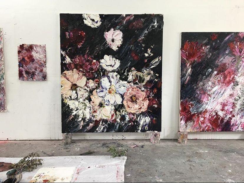 213cmh x 183cmw #aestheticart #loss #nature #abstract #flowers #floral #art #contemporaryart #oilpainting #design #studiolife #modernart