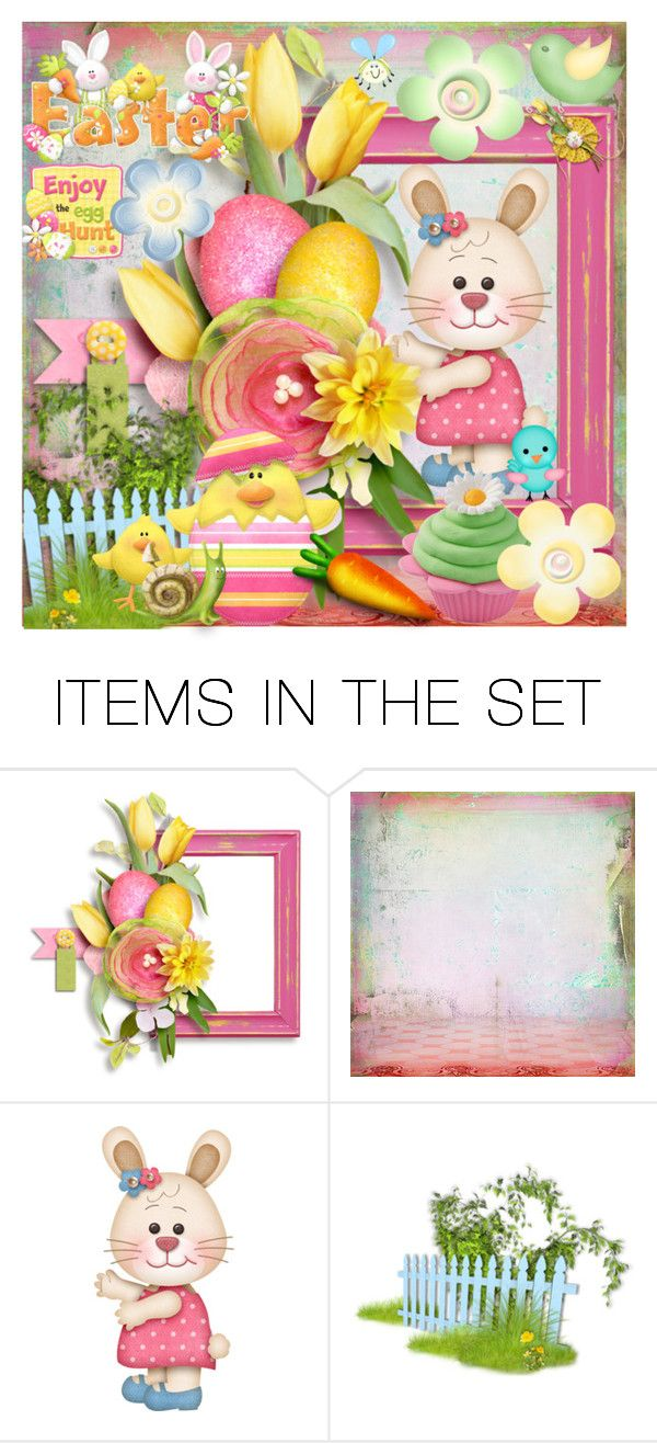 """""""Spring bunny bright"""" by joyfulmum ❤ liked on Polyvore featuring art"""
