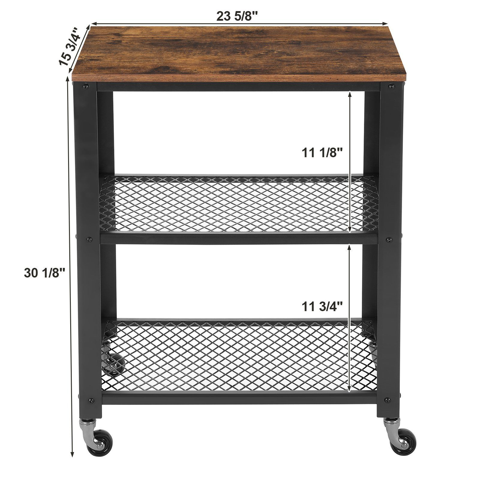 Songmics Rustic 3tier Serving Cart And Rolling Utility Storage Organizer For Kitchen And Living Room Ulrc78 Kitchen Utility Cart Kitchen Cart Kitchen Utilities