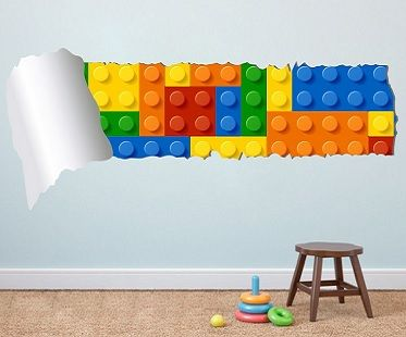 Beautiful Lego And Torn Wallpaper Decal